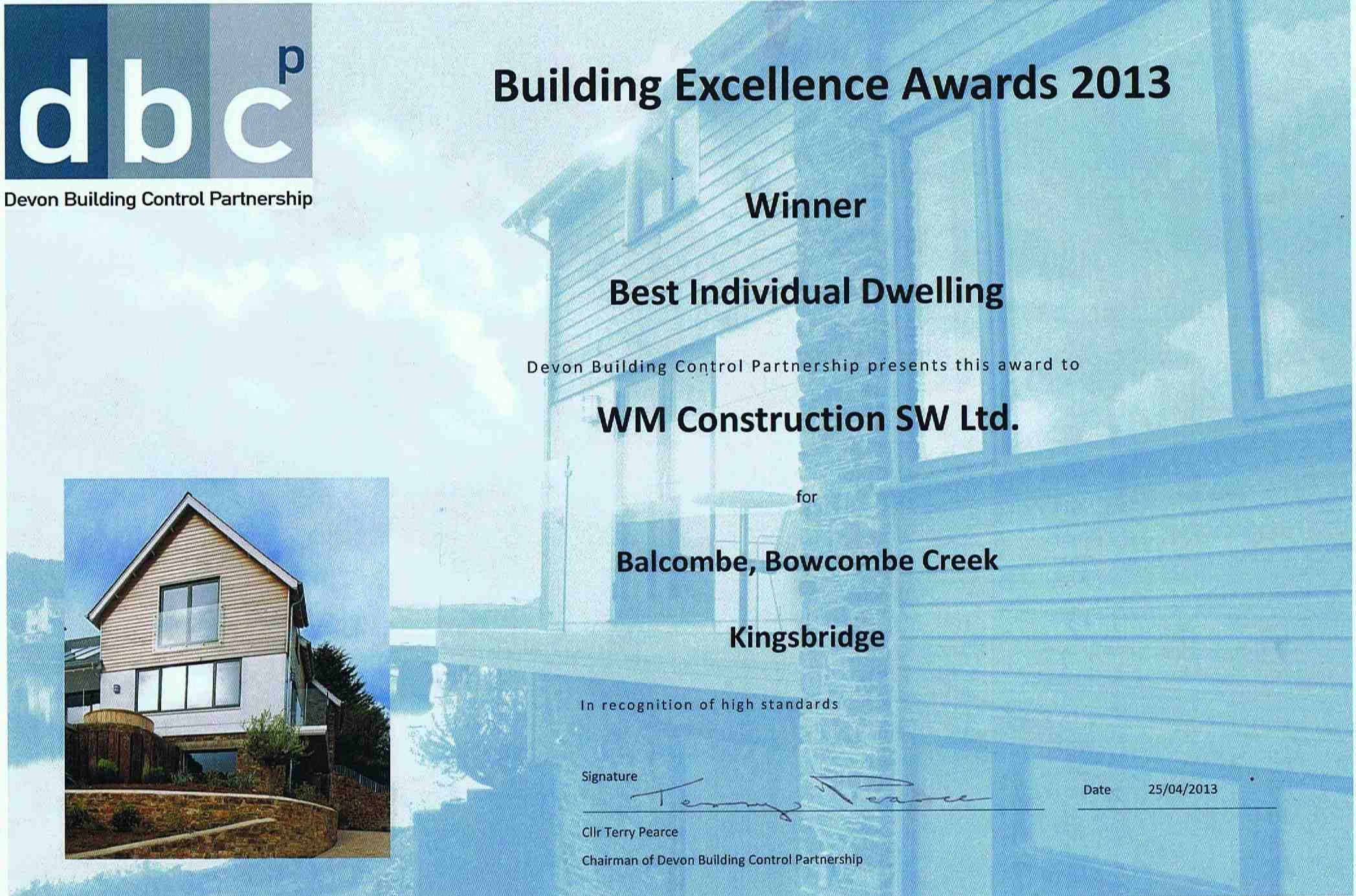 best individual dwelling award